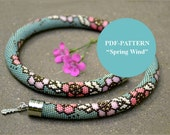 Bead crochet necklace pattern bead crochet rope pattern seed beads pattern floral pattern bead crochet bracelet pattern