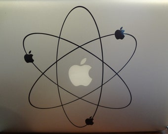 Atom Apple Science Decal MacBook Pro 13 inch PC Laptop 11 15 17 Decal Big Bang Sticker Science Theory
