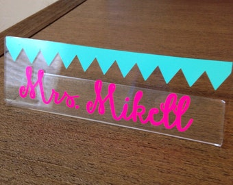 Personalized Teacher Name Plate
