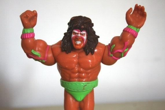 Ultimate Warrior Action Figure Vintage Hasbro Wwf