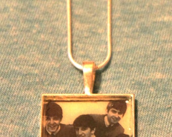 "The Beatles 24"" silver charm necklace"