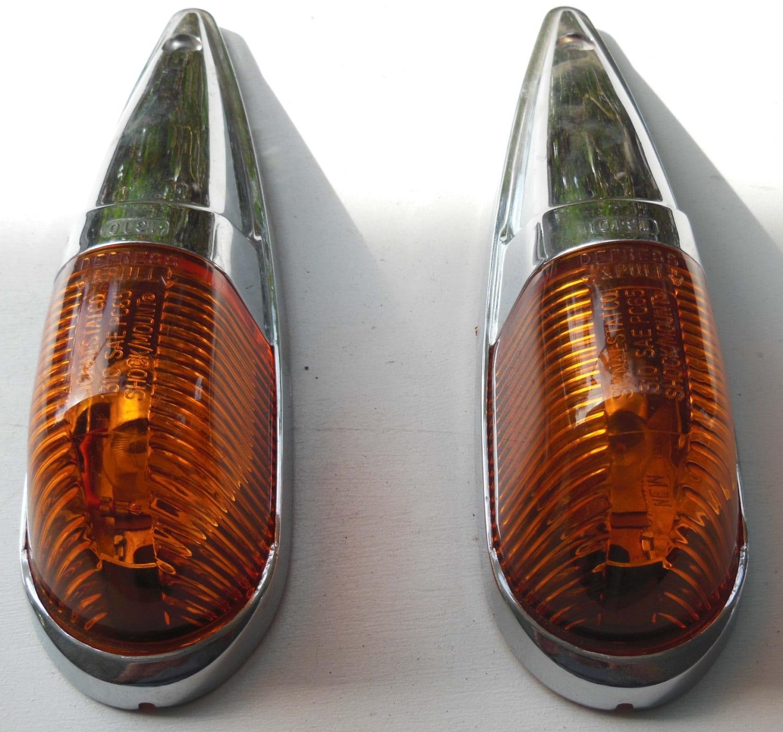 Vintage Fender Lights : Pair of vintage amber marker fender lights