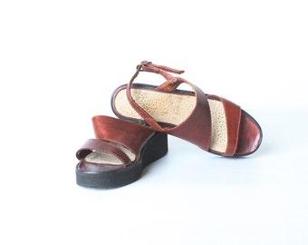 Vintage Size 12 Children's Leather Sandals