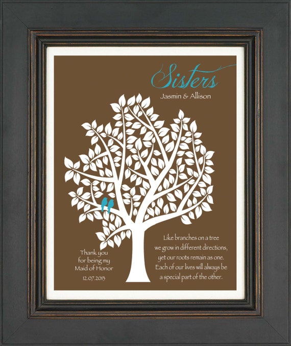 Wedding Gift For Sister Cash : Maid of Honor Sister Gift - Personalized Gift for Sister on Wedding ...