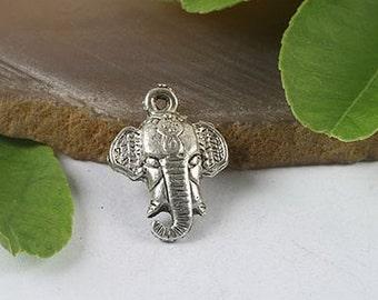 8pcs Tibetan silver elephant trunk charms h0392