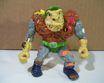 General Tragg Teenage Mutant Ninja Turtles Vintage Action Figure, 1989 Playmates, TMNT