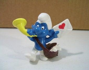 The Smurfs Postman Smurf Pvc Figure, 1978, Vintage Figure, Schleich Peyo