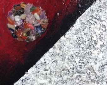 SALE Gemstone Sides - 6x6 Original Painting