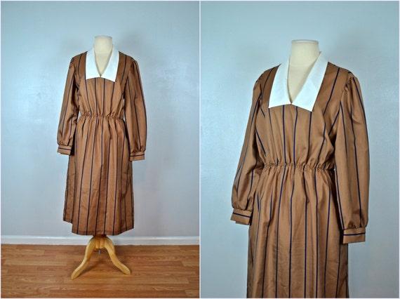 1950s Sears Dress, Sears Brown Dress, Vintage Dress