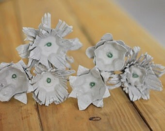 Egg Carton Flowers- Color of your choice- Set of 6