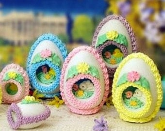 Make Your Own Panoramic Easter Egg Instructional Tutorial Article PDF Instant Download Electronic How To