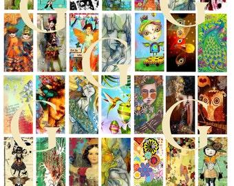 """Artsy 1"""" x 2"""" Digital Collage Sheet"""
