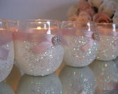 Weddings, Wedding Candles, Candle Holder, Votives, Votive Holder, White, SET OF 6, Tea Light Holder, Wedding Decoration, Ceremony Candles