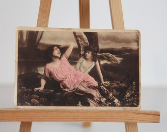 Antique Hand Painted 1921 Postcard. Made in Italy