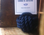 Nautical Wedding - 13 Navy Blue Nautical Rope Table Number Holders (4 inches) -navy wedding
