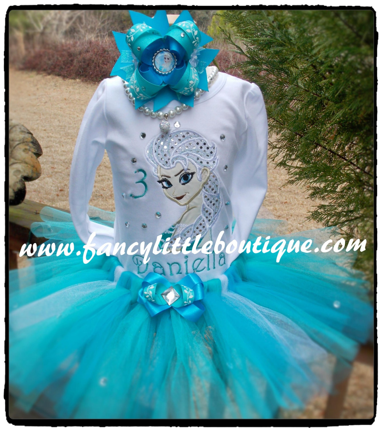 Frozen Tutu birthday outfit elsa by Fancylittleboutique on Etsy