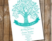 Tree Wedding Invitation - Instant Download and Edit with Adobe Reader - Print at Home!