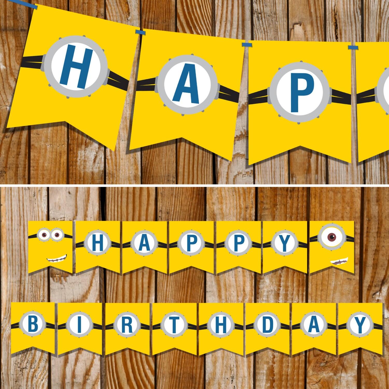 Minion Happy Birthday Sign