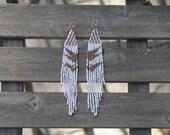 Long Pale Ladies Beaded Earrings