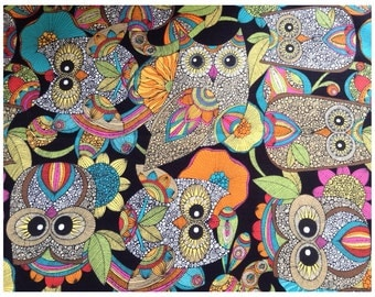 Owl themed fabric - 'Owl's Nest'