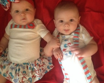 Thing 1 and 2 - Twin Set Bodysuits