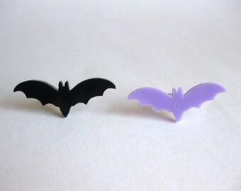 Acrylic Bat Adjustable Rings - Halloween Ring Halloween Jewelry Pastel Goth Jewelry Kawaii Jewelry