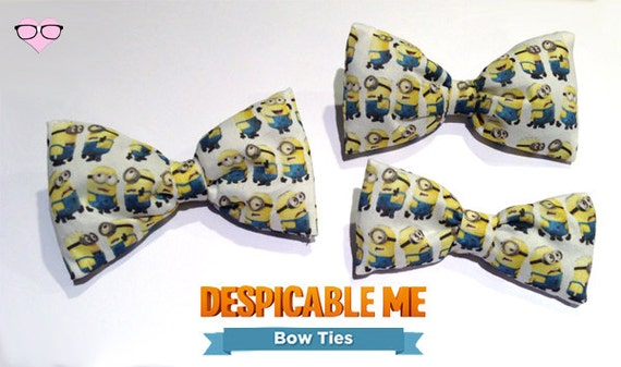 minions bow tie by nerdswithvaginas on etsy