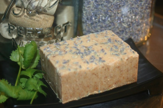 Lavender Citrus Castile soap with all Organic oils-Large 5.3 oz bar essentisl oils
