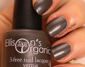 Chim Chim Cher-ee - Dark Grey Nail Polish - 3-free, Vegan, colored with natural mica