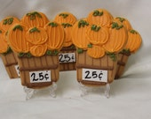 Pumpkin Patch cookies, Fall cookies, fondant icing,