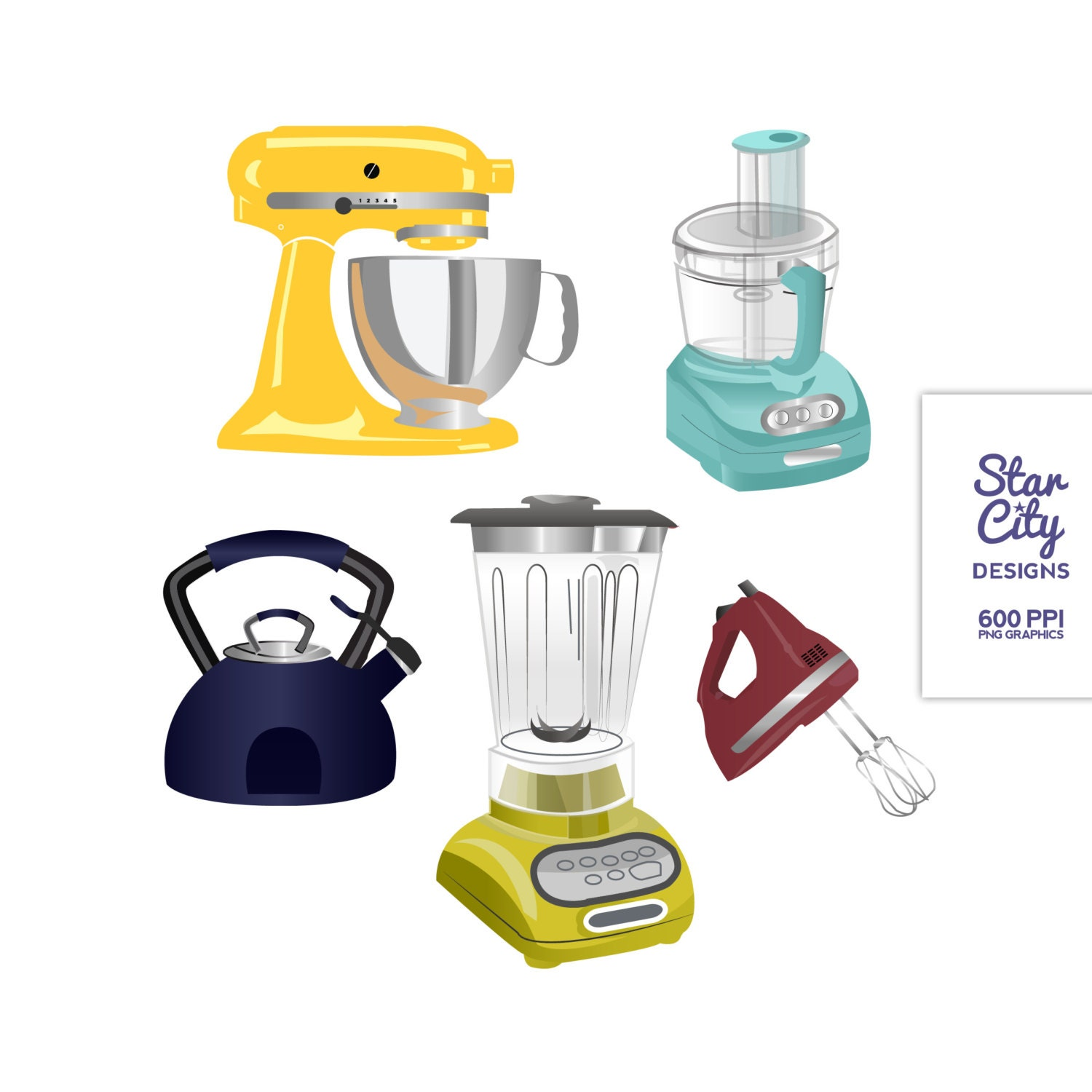 Kitchen Appliances Clip Art ~ Items similar to kitchen clip art for scrapbooking