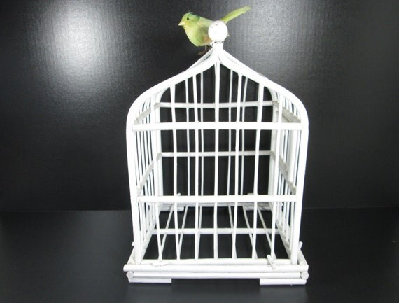 Vintage Wood Bird Cage Home Decor Wedding By Girlpickers