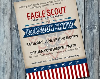 Eagle Scout Invitation | Court of Honor Invitation | Boy Scout Invitation | Digital Invitation