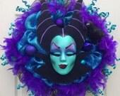 Maleficent Disney Halloween Wreath