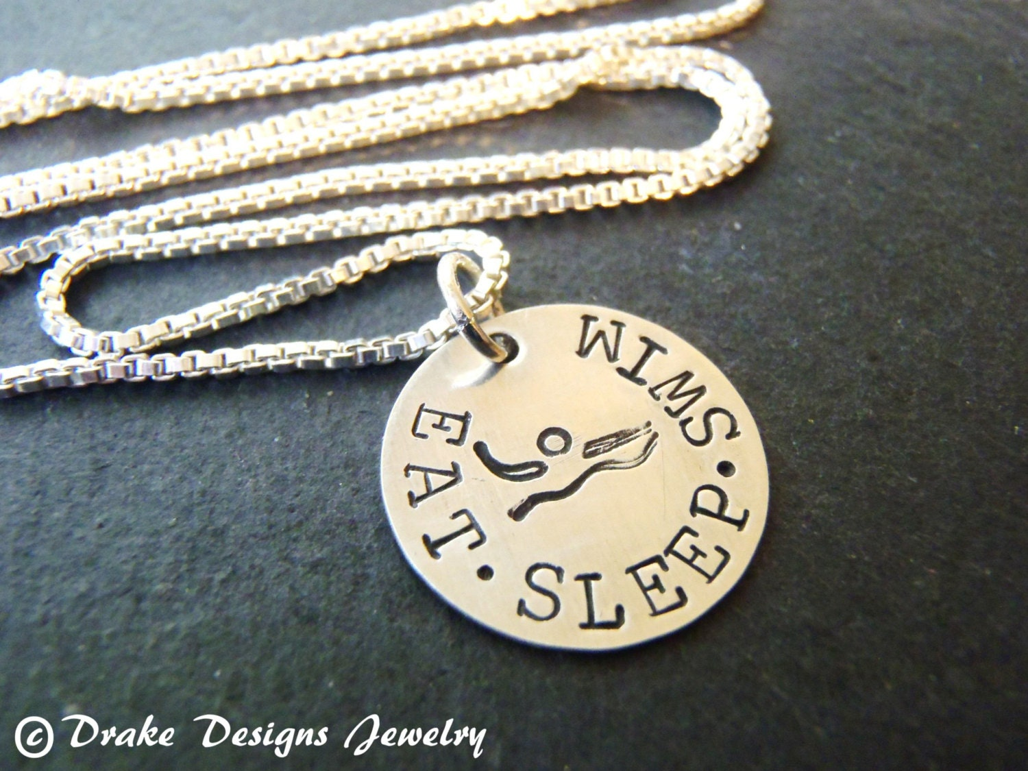swimmer jewelry sterling silver swimmer necklace gifts for swimmer jewelry 8274