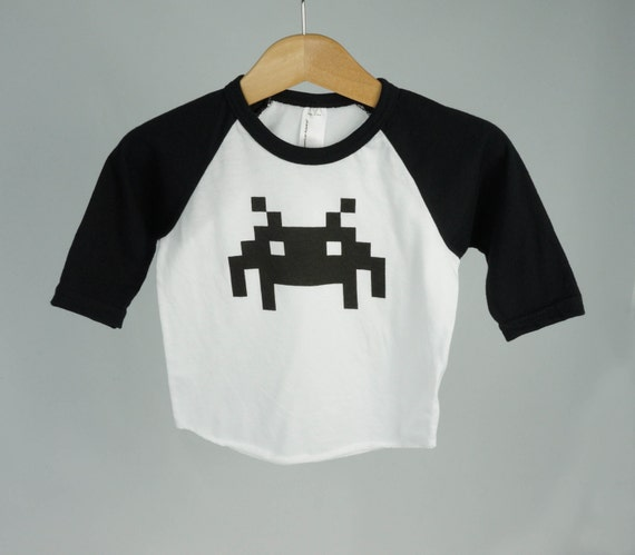 Gender neutral uni baby clothes retro video by