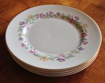 """Pickard """"Garland"""" Set of Four Dinner Plates"""