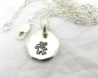 Silver Charm Pendant Necklace , Fine Silver Pendant,  Silver Monogram Necklace, Bridesmaid Gift Necklace