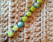 Margarita and blue raspberry fabric button bracelet