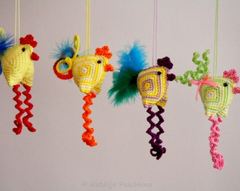 Easter Decoration - chicken, crazy crochet pattern