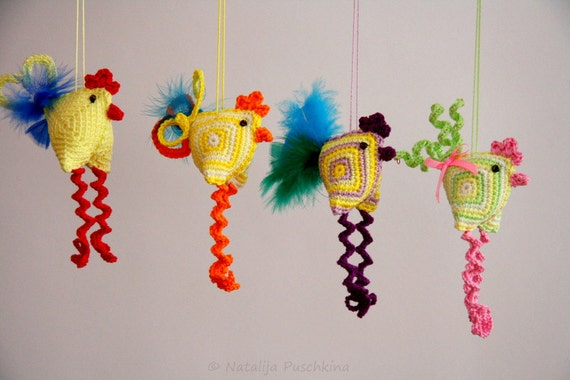 Easter Decoration - chicken, crazy crochet pattern