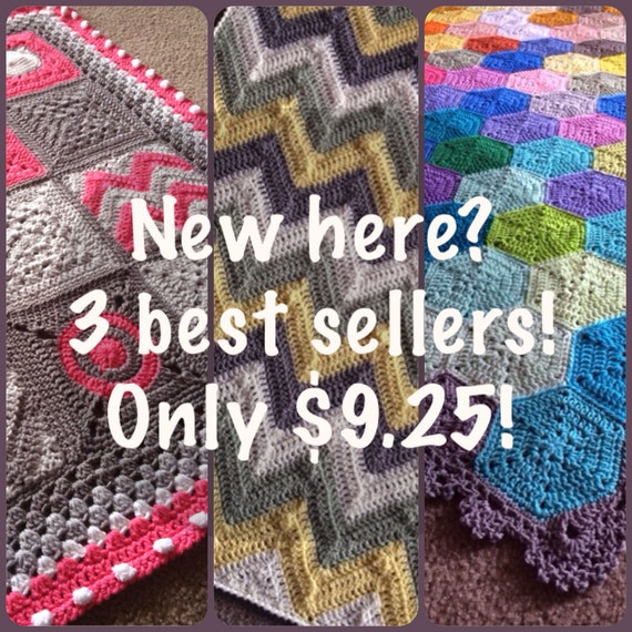 Crochet Patterns To Sell : My 3 BEST SELLING crochet patterns for a discounted 9.25USD - Added ...