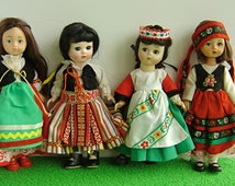 """FOLKLORE COSTUMES for 8""""/20cm dolls such as Betsy McCall, Ginny, Kripplebush Kids, and Blythe"""
