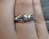 Sterling Silver Rabbit Foot Ring