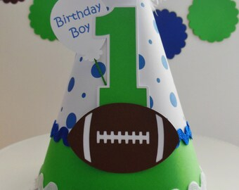 Football Birthday Party Hat - Personalized