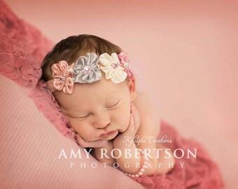 Pearl pink bracelet, newborn bracelet, newborn jewelry, photo prop, newborn photography prop