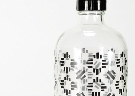 Compass Drinking Bottle - Screenprinted in Black
