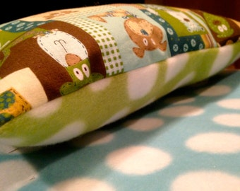 Puppy Pillow Bed with Polka Dot Fleece