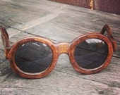 Handmade sunglasses with wooden frames Nutmeg