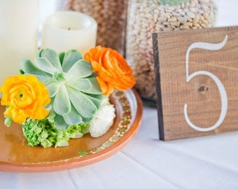 Rustic Wooden Wedding Table Numbers, Table Number Wedding, Rustic Table Number - Set of 12 - TB-22